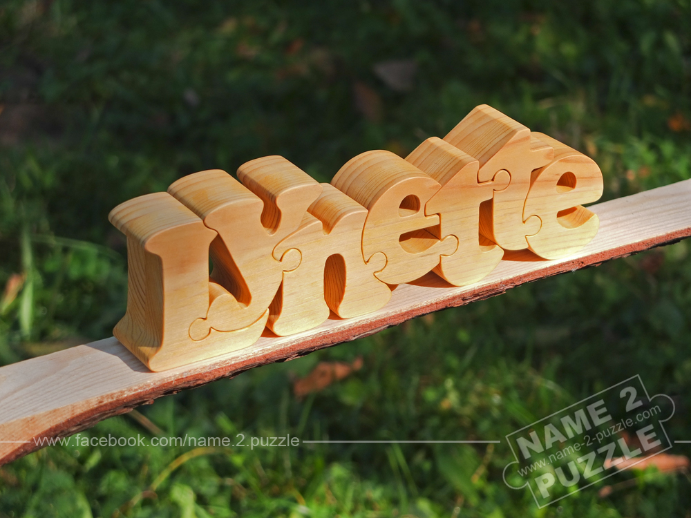 Wooden Custom Name Puzzle Linda