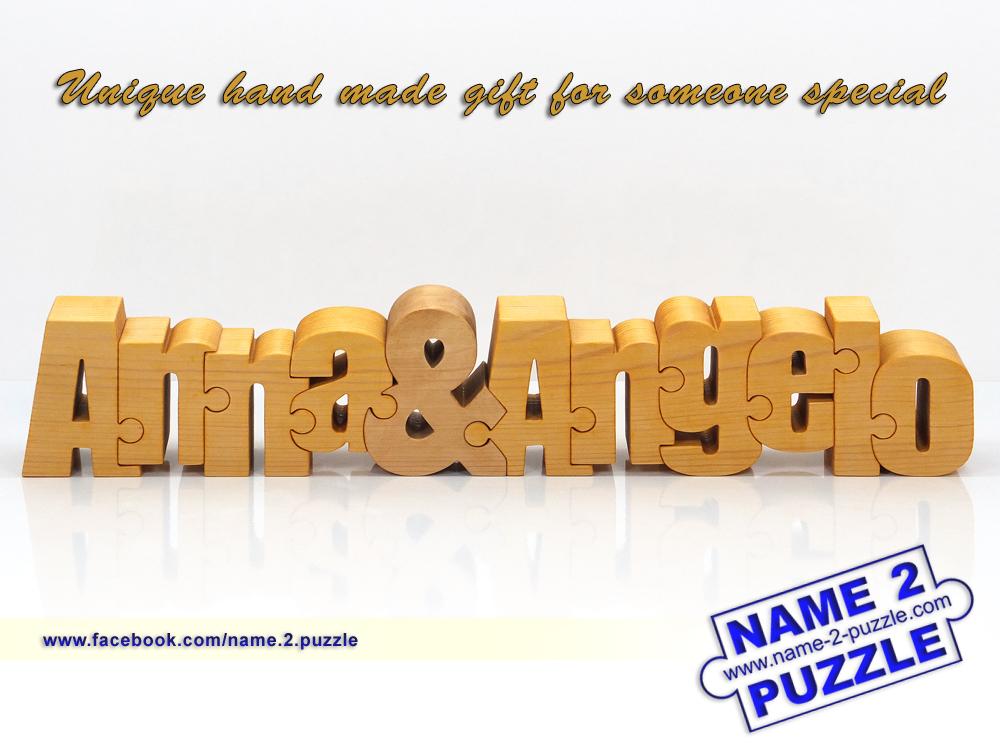 two name personal puzzles unique 3d name puzzles best