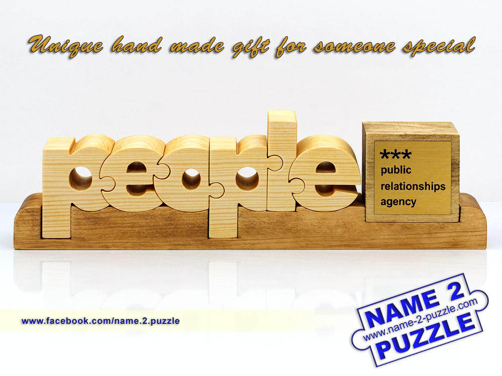 Wooden Gift Unique 3d Name Puzzles Best Personalized Gifts