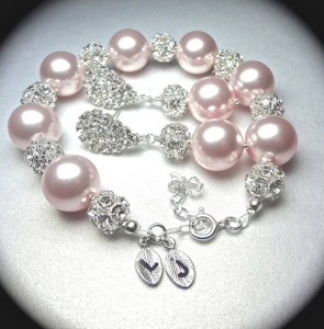 bridal-jewelry-pearl-bracelet-and-earring-set-chunky-rhinestone-fireballs-personalized-hand-stamped-initials-lolita