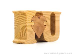 I♥U gift puzzle