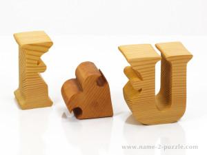 Wooden I♥U puzzle (4)